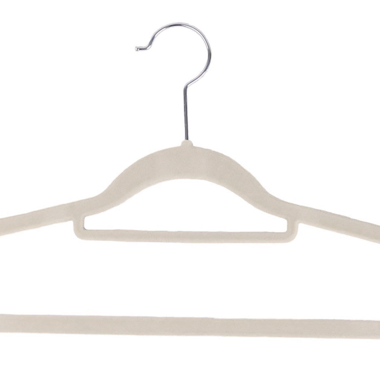 Non-Slip-Space-Saving-Velvet-Flocked-Coat-Clothes-Trousers-Hangers-Organisers thumbnail 6