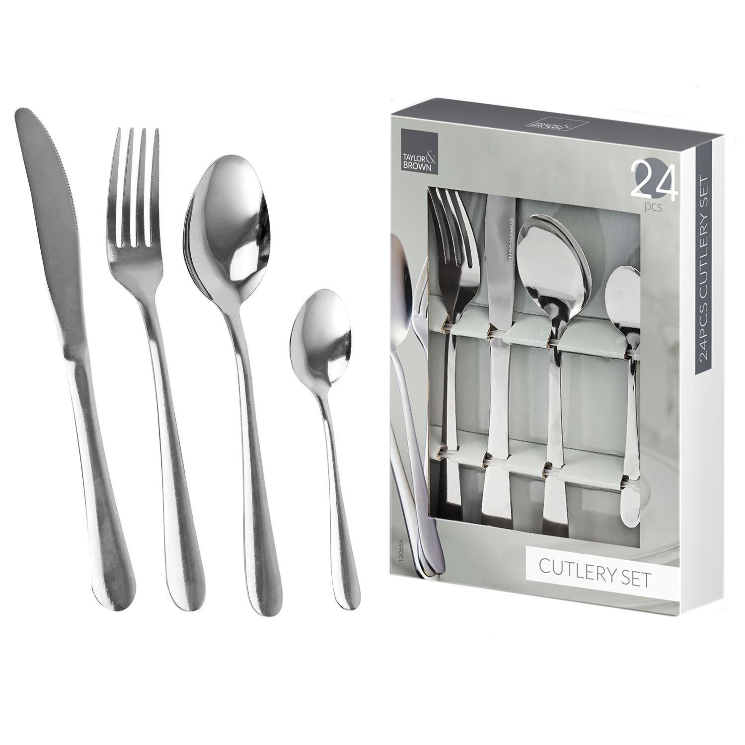 4-24 PCS Stainless Steel Quality Kitchen Cutlery Set Dining Forks Knives Spoons