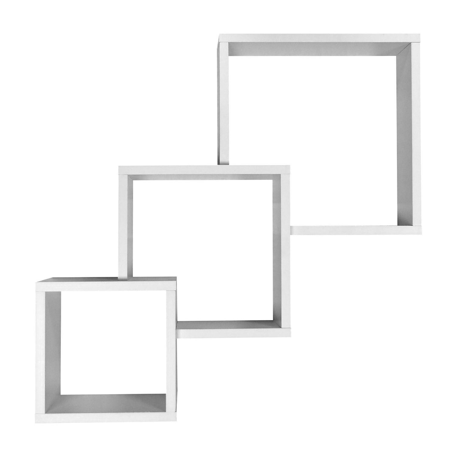 Set-of-3-Cube-Wall-Mounted-Floating-Shelves-Cd-Dvd-Book-Display-Holder-Storage thumbnail 9