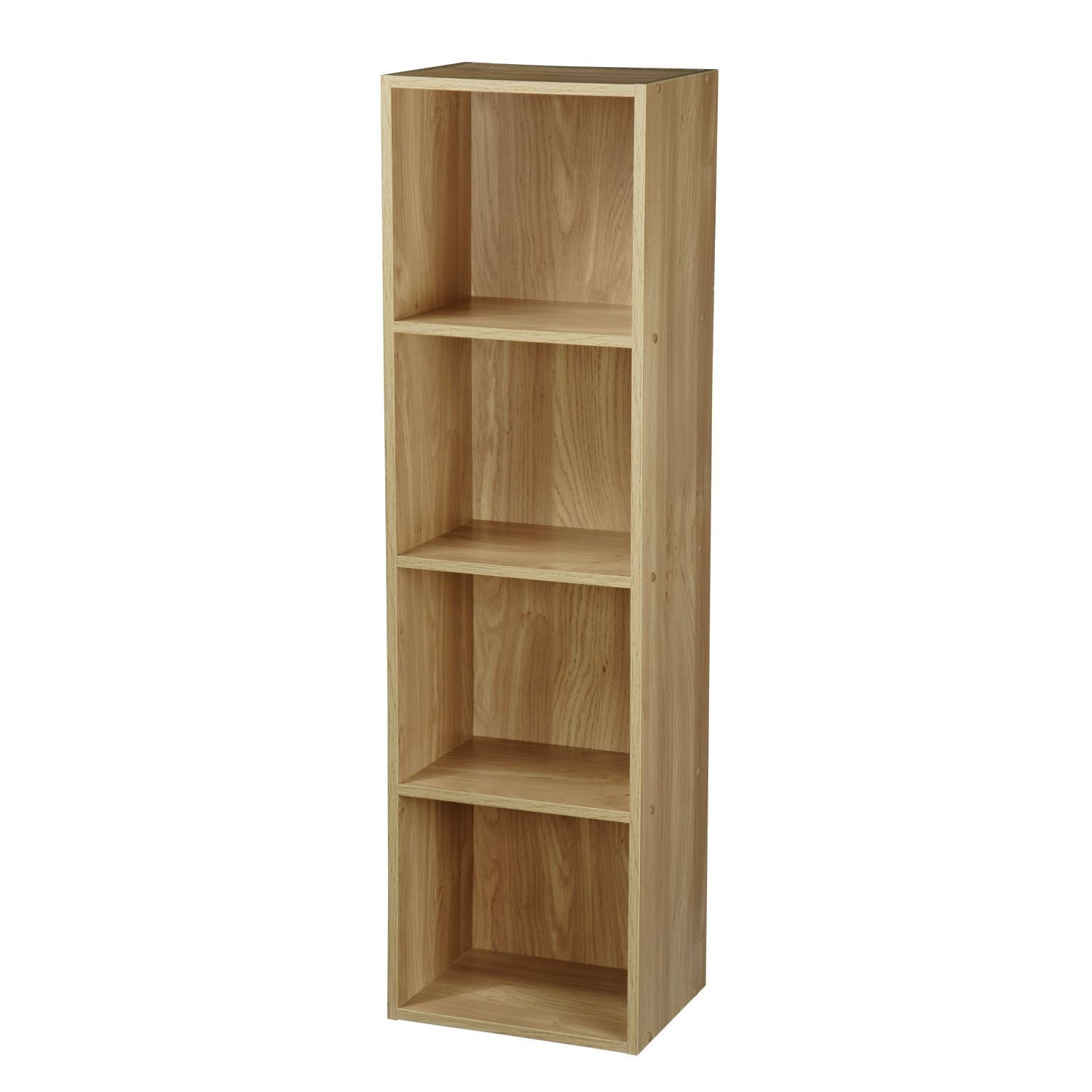 2 4 tier wooden bookcase shelving bookshelf storage for How to make display shelves