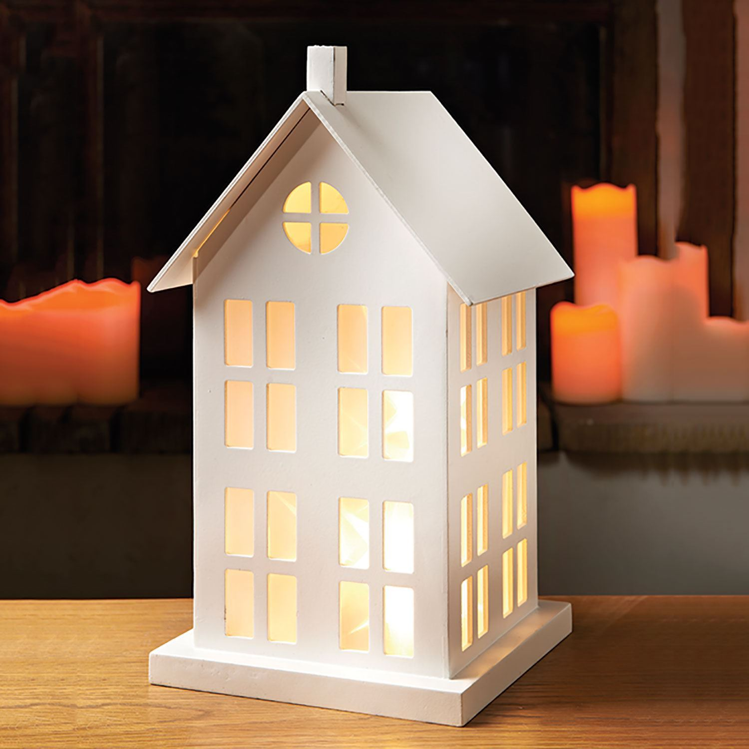 10 led light up wooden house chritmas wedding party gift lit with