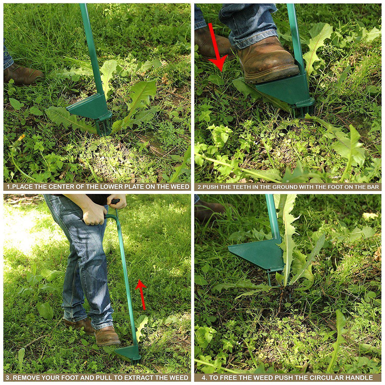 Steel Weed Puller Claw Easy Weeder Root Remover Killer