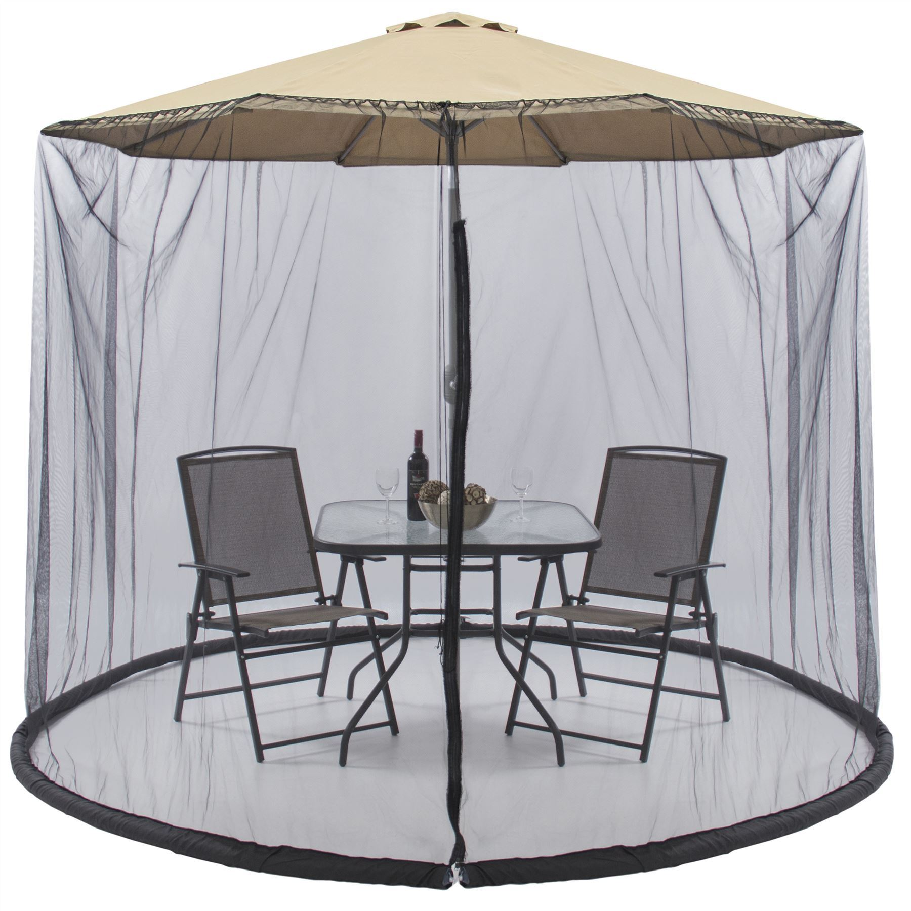 New patio picnic 7 5 ft umbrella table screen enclosure for Patio table umbrella 6 foot