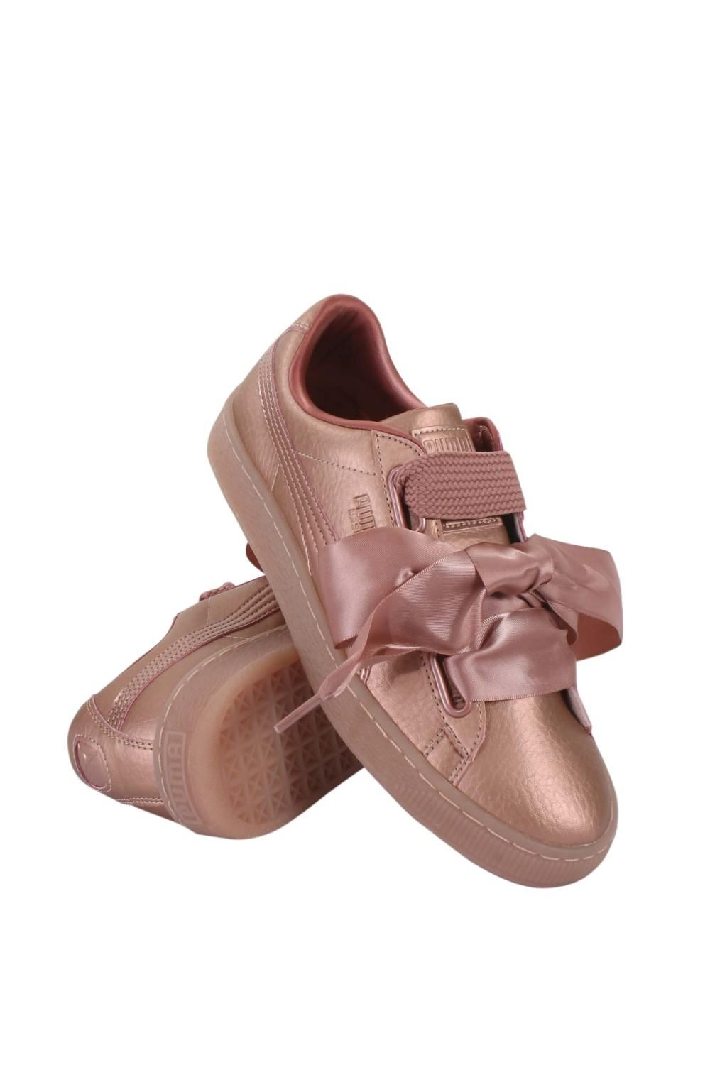 eb1267caeaa PUMA Womens Copper Pink Basket Heart Patent Trainers UK 6. About this  product. Stock photo  Picture 1 of 4  Picture 2 of 4  Picture 3 of 4