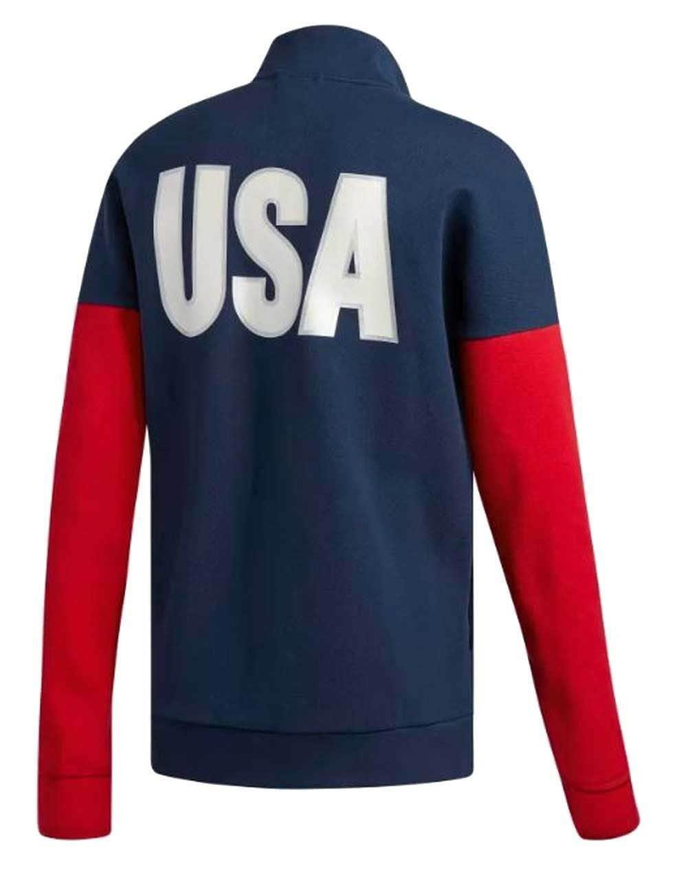 adidas-USA-VB-Mens-Jacket-Zip-Up-Warm-Up-Track-Top-RRP-45-Sale-Price-All-Sizes thumbnail 6