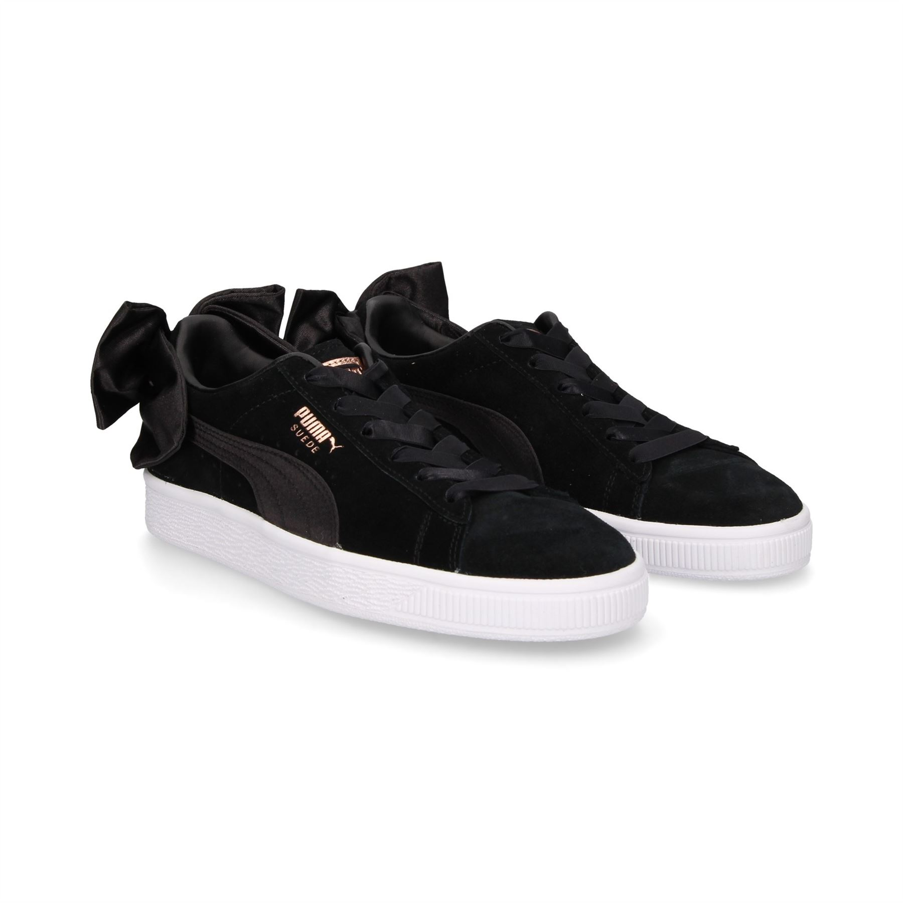 Puma-Suede-Bow-Womens-Trainers-RRP-70-Sizes-UK-3-to-7-5 miniatuur 3