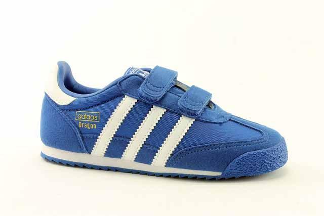 Adidas Originali Drago Di Og - Blu / Bianco Formatori Dimensioni Uk 5 Bambini
