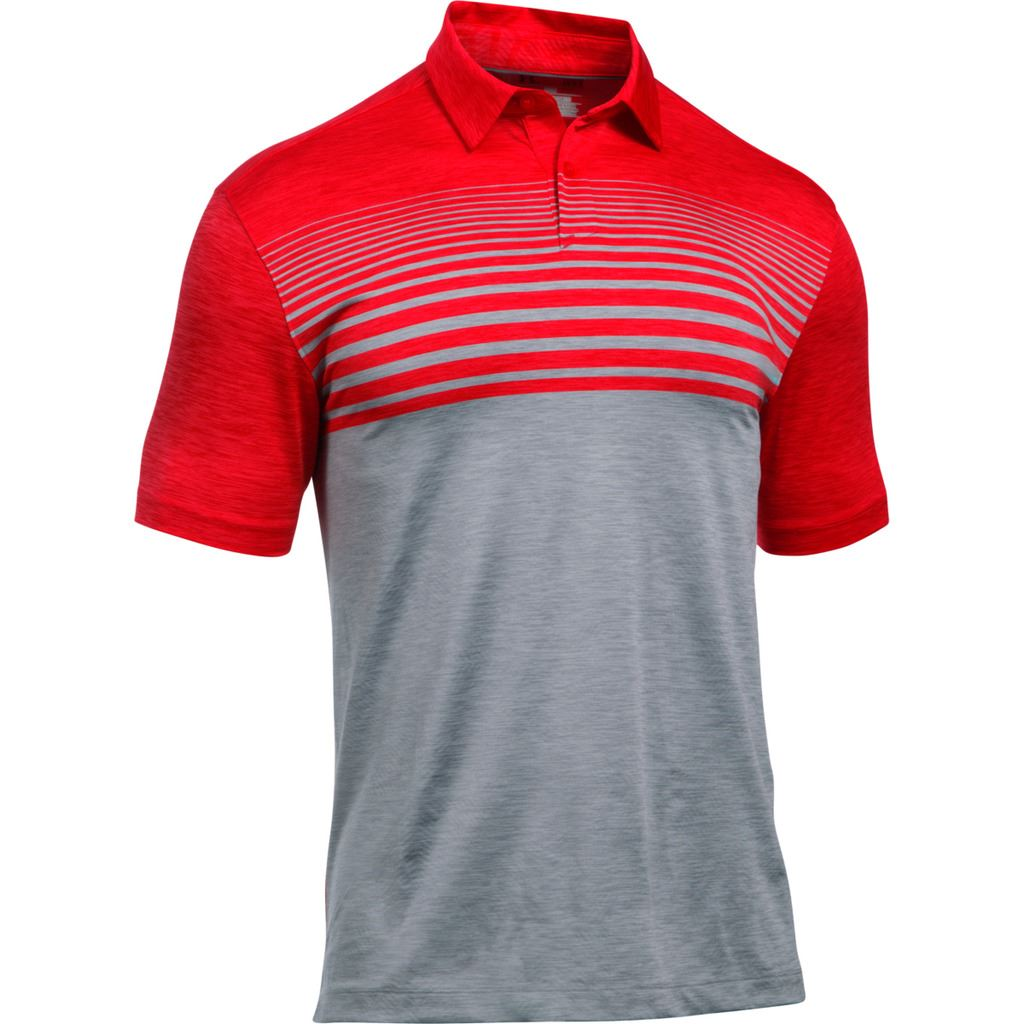 2017 Under Armour CoolSwitch Upright Polo Mens Golf Performance Polo Shirt Steel Large fo3wc3G