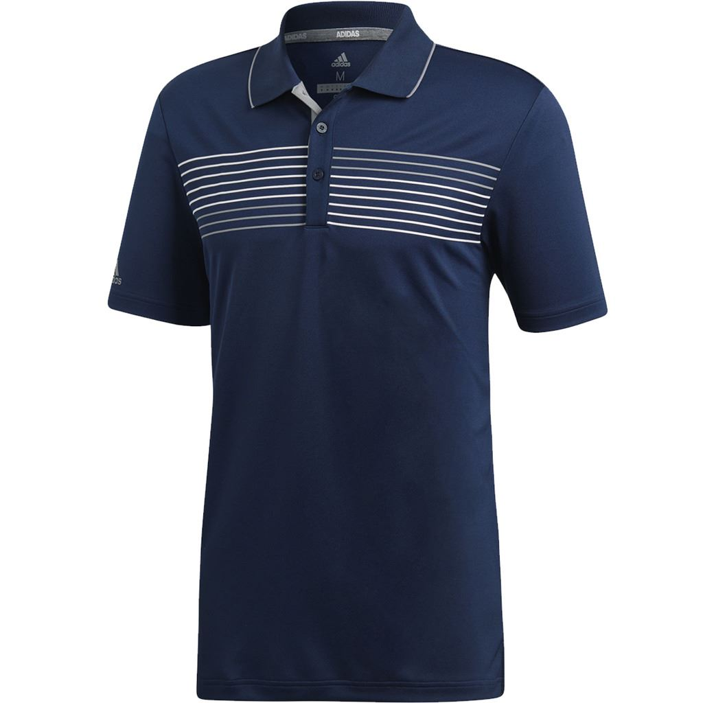 adidas-Golf-2018-Textured-Tipped-Golf-Polo-Shirt-Mens-Performance-Top