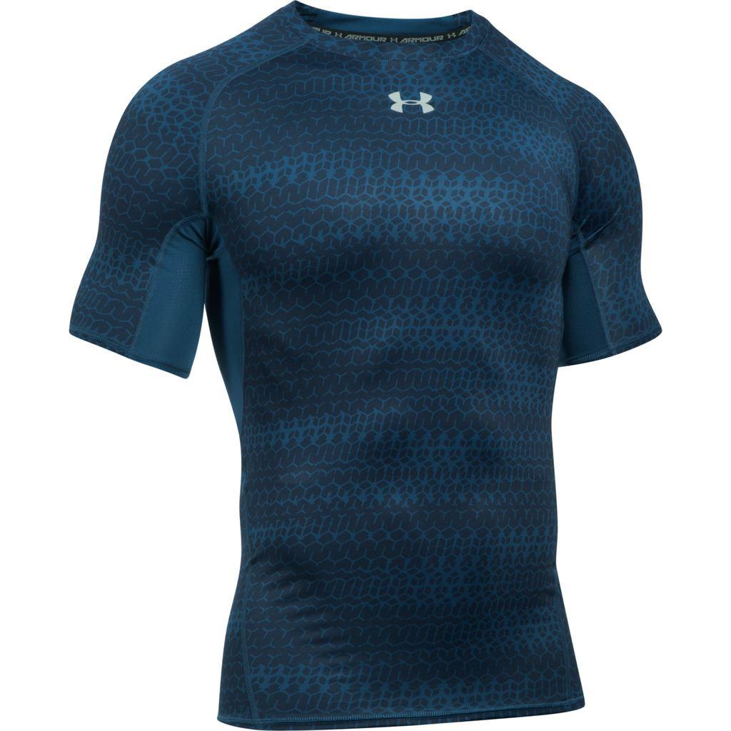 Under armour mens ua heatgear armour printed short sleeve for Bulk under armour shirts