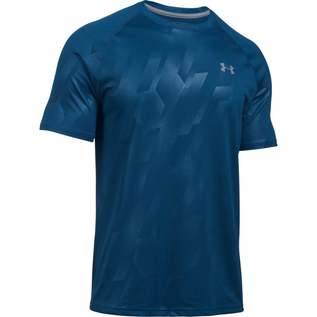 Under armour 2017 tech novelty patterned short sleeve t for Mens short sleeve patterned shirts