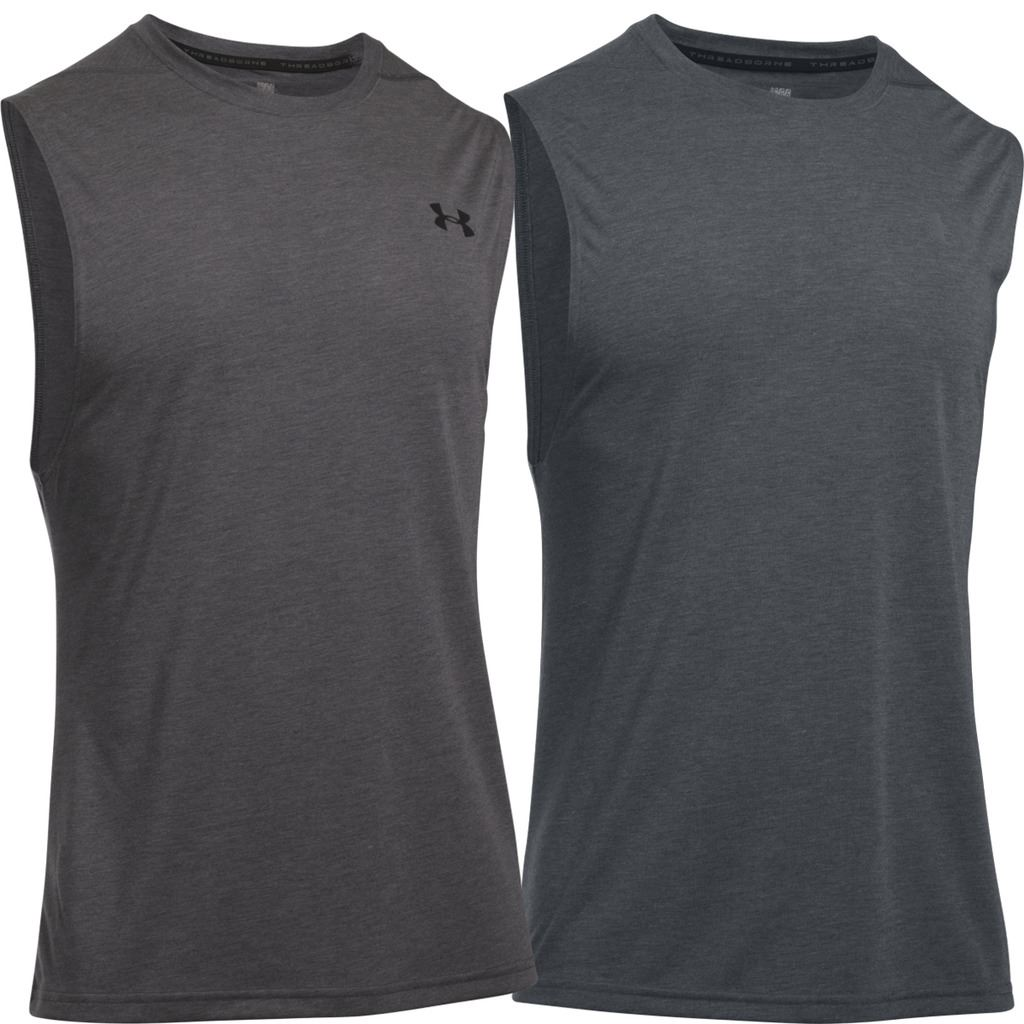 80ab379a8a7c1f Details about UNDER ARMOUR MENS UA THREADBORNE MUSCLE TANK SLEEVELESS  TRAINING GYM VEST 32%OFF