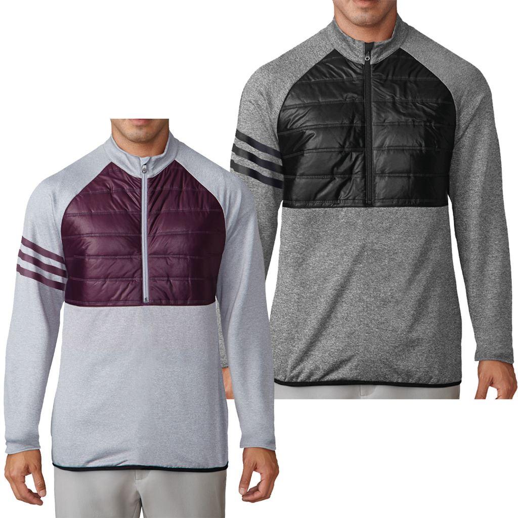 Détails sur 50% Off Golf ADIDAS Homme Climaheat Matelassé 14 Zip Performance Veste Sweater afficher le titre d'origine