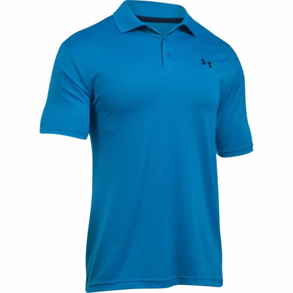 New 2017 under armour mens golf performance 2 0 logo for Mens golf polo shirts