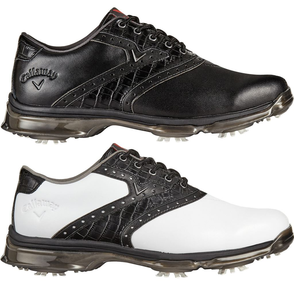 3756888fe307 Details about CALLAWAY GOLF MENS X NITRO PT WATERPROOF SPIKES GOLF  SHOES-LEATHER + FREE SOCKS
