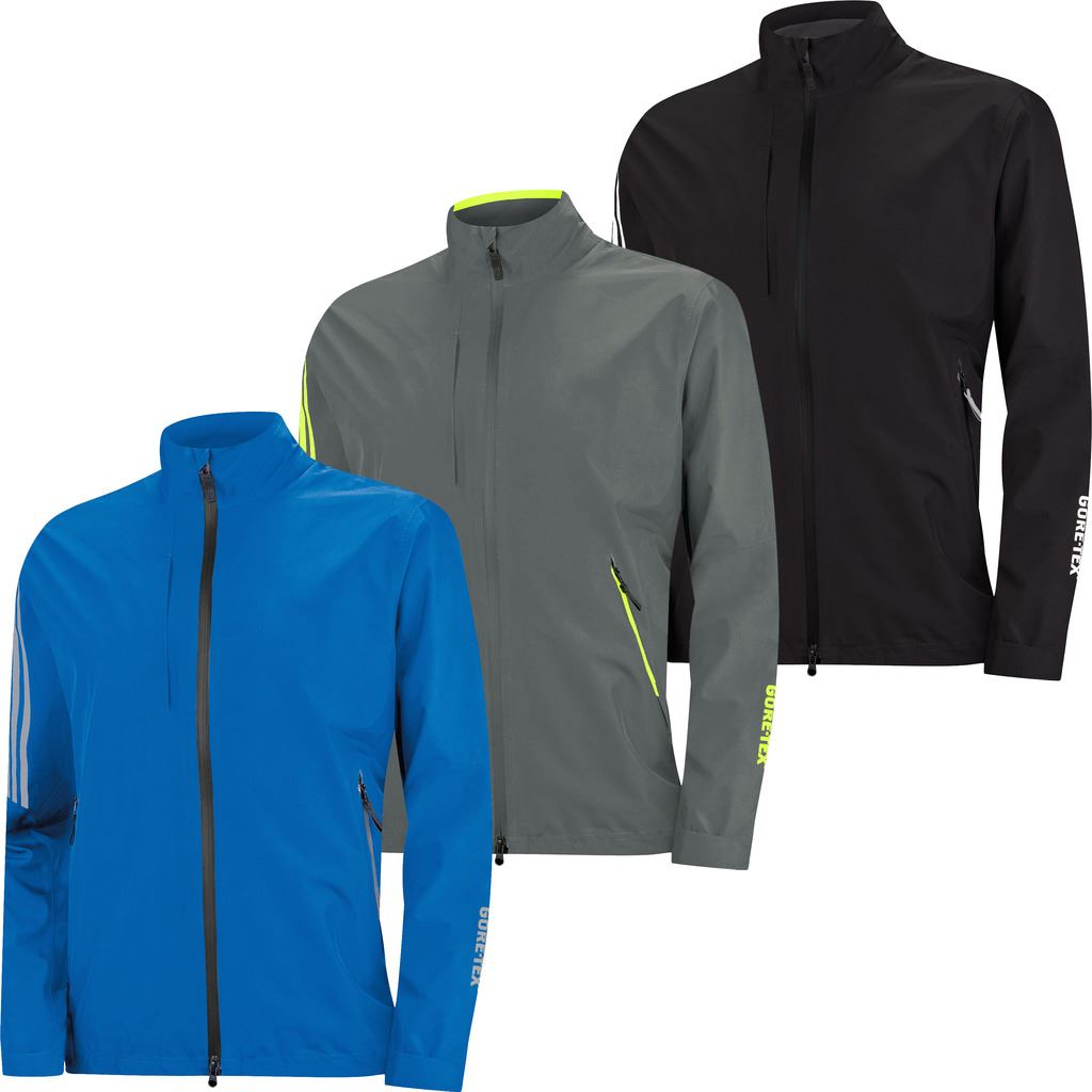 c01541153d47a Details about 39% OFF adidas CLIMAPROOF GORE-TEX TWO LAYER CHEST POCKET  FULL ZIP GOLF JACKET
