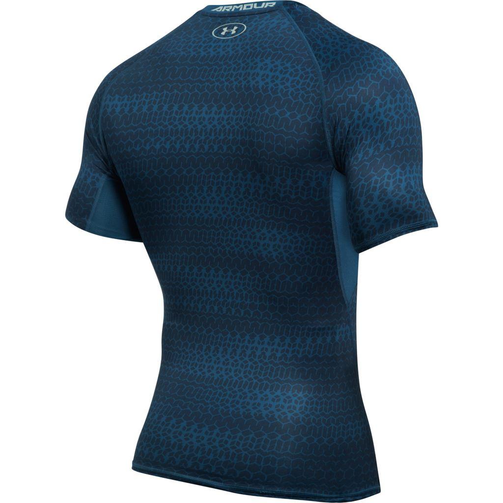 Under armour 2017 mens ua heatgear armour printed short for Under armour half sleeve shirt
