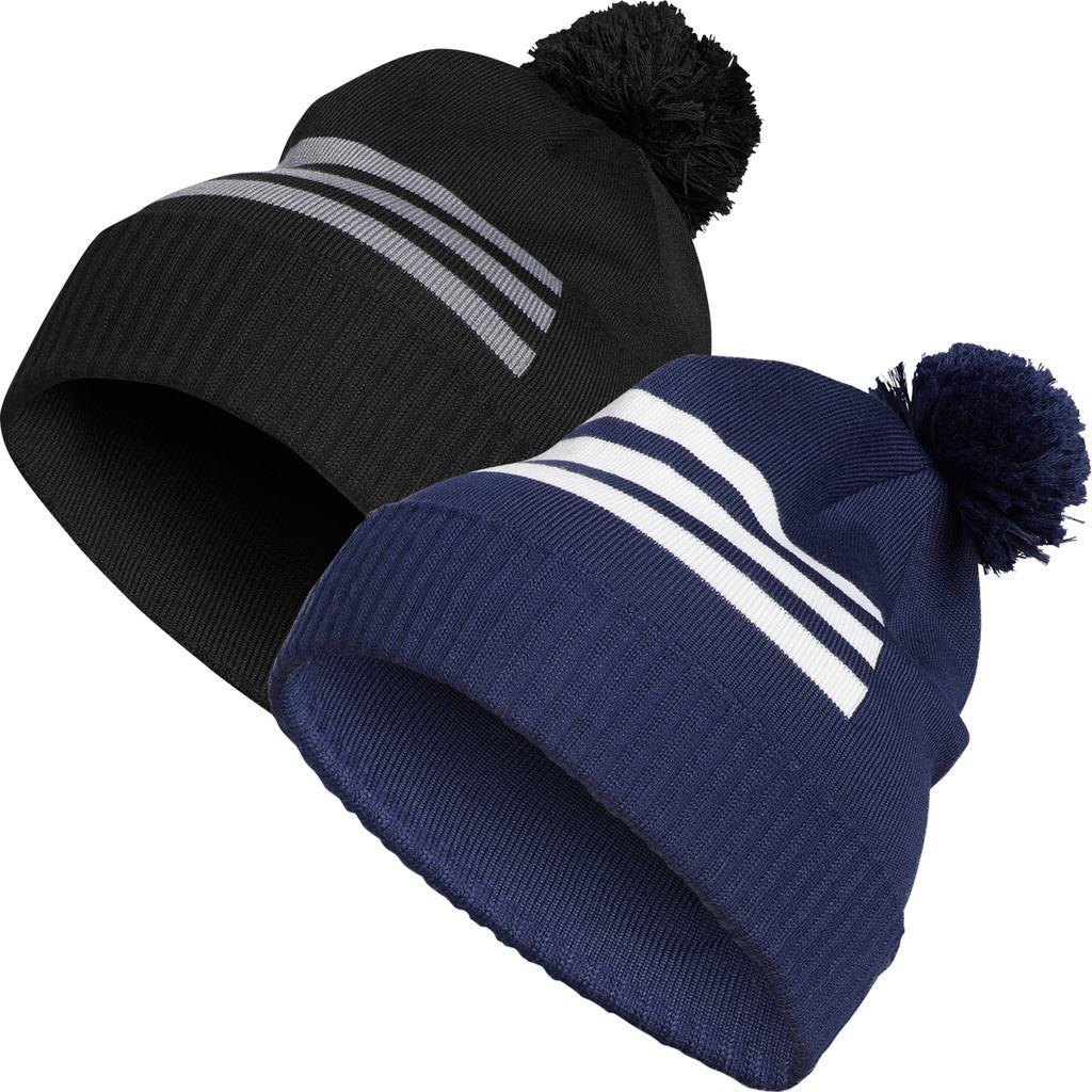 adidas Golf 2019 Mens 3-Stripes Pom Pom Winter Golf Beanie Hat  080c5af398e5