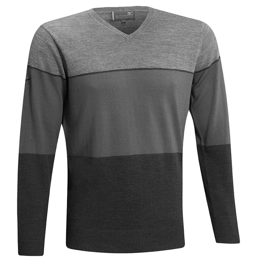 mizuno herren stripe v ausschnitt merino lightweight performance golf pullover ebay. Black Bedroom Furniture Sets. Home Design Ideas