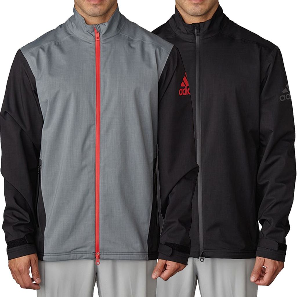 adidas Mens Golf Waterproof Climaproof Heathered Breathable ...