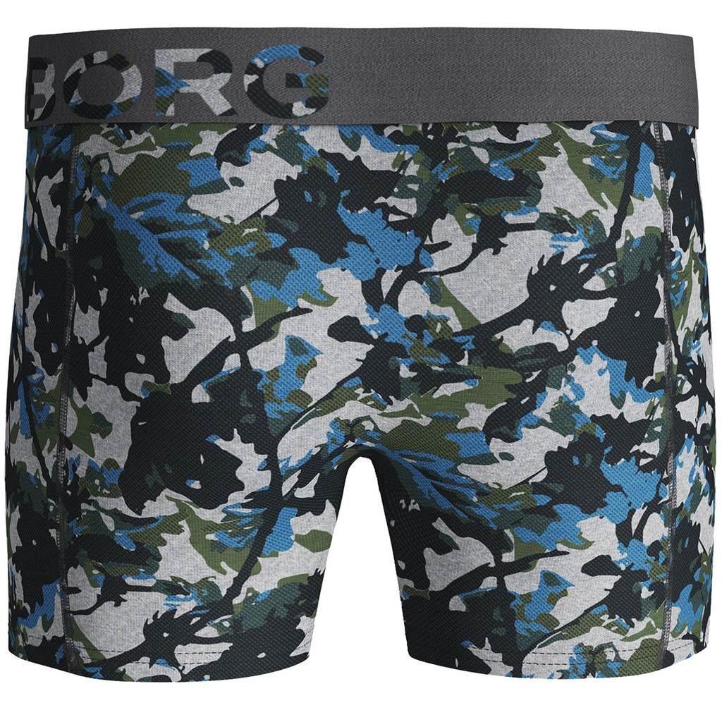 Bjorn-Borg-2019-2-Pack-Shorts-BB-Branch-Boxer-Briefs-Mens-Under-Wear miniatuur 8