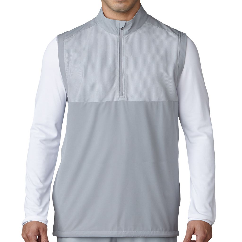 SALE-adidas-Golf-Competition-Stretch-1-4-Zip-Wind-Vest-Mens-Performance-Gilet thumbnail 3