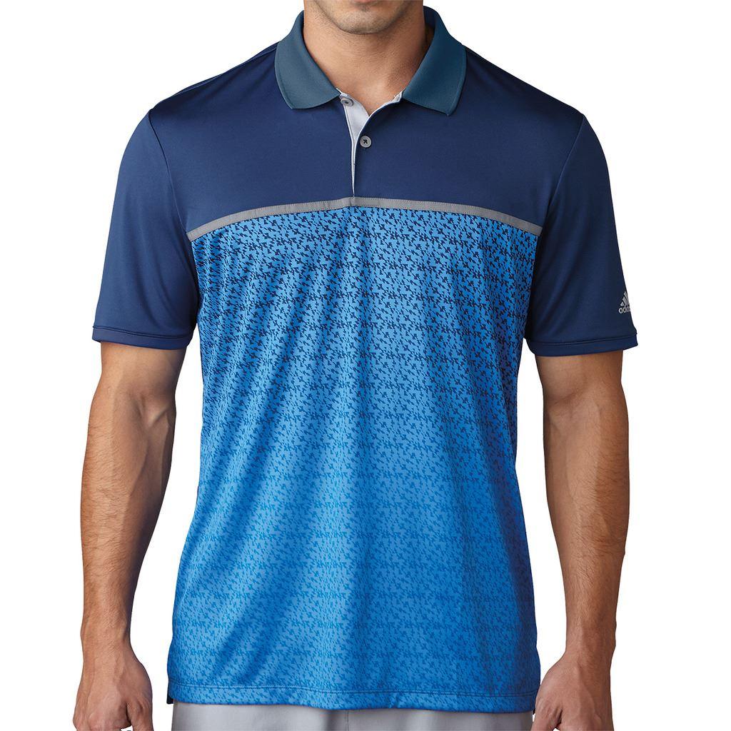 Adidas Golf 2017 Climacool® Gradient Tri Geo Print Performance Golf Polo Shirt