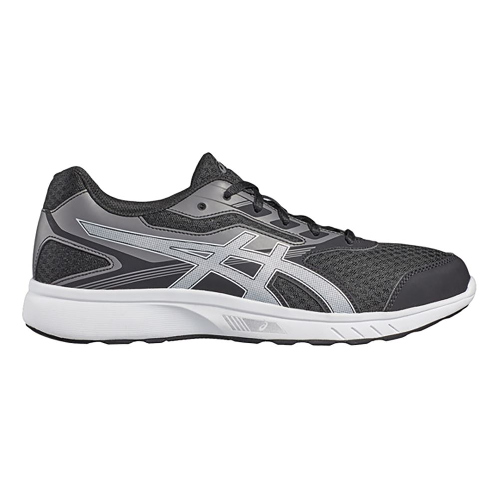 ASICS Stormer Mens Grey Black Cushioned Running Sports Shoes Trainers PUMPS  UK 7.5. About this product. 11 watching. Picture 1 of 2; Picture 2 of 2