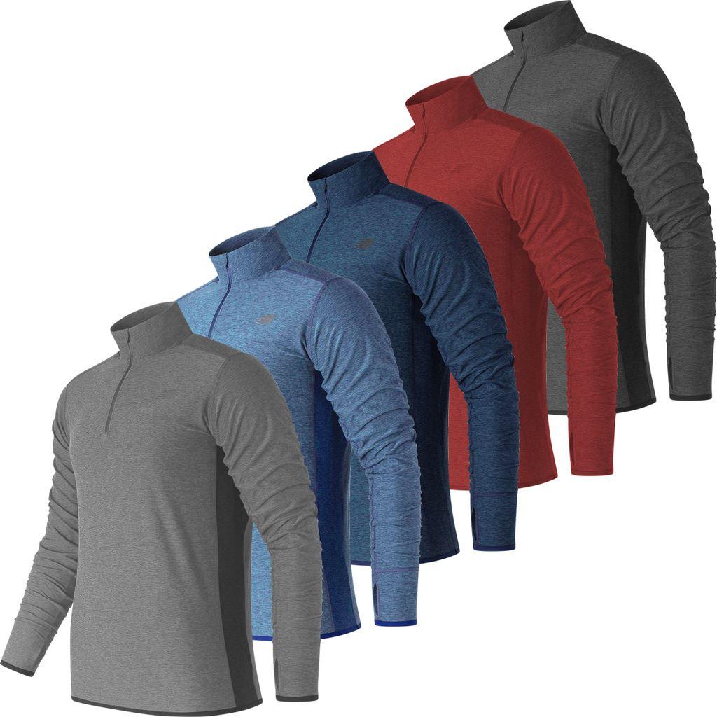 Details about New Balance 2019 Mens Lightweight ¼ Zip Sports Pullover Sweater Top