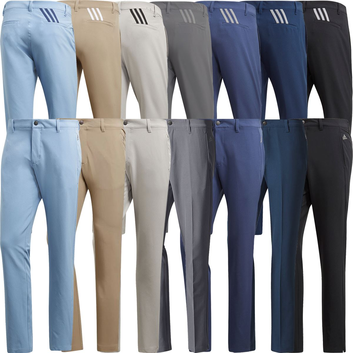 Details about adidas Golf 2019 Ultimate 365 3-Stripe Mens Trousers Stretch  Pant Tapered Leg