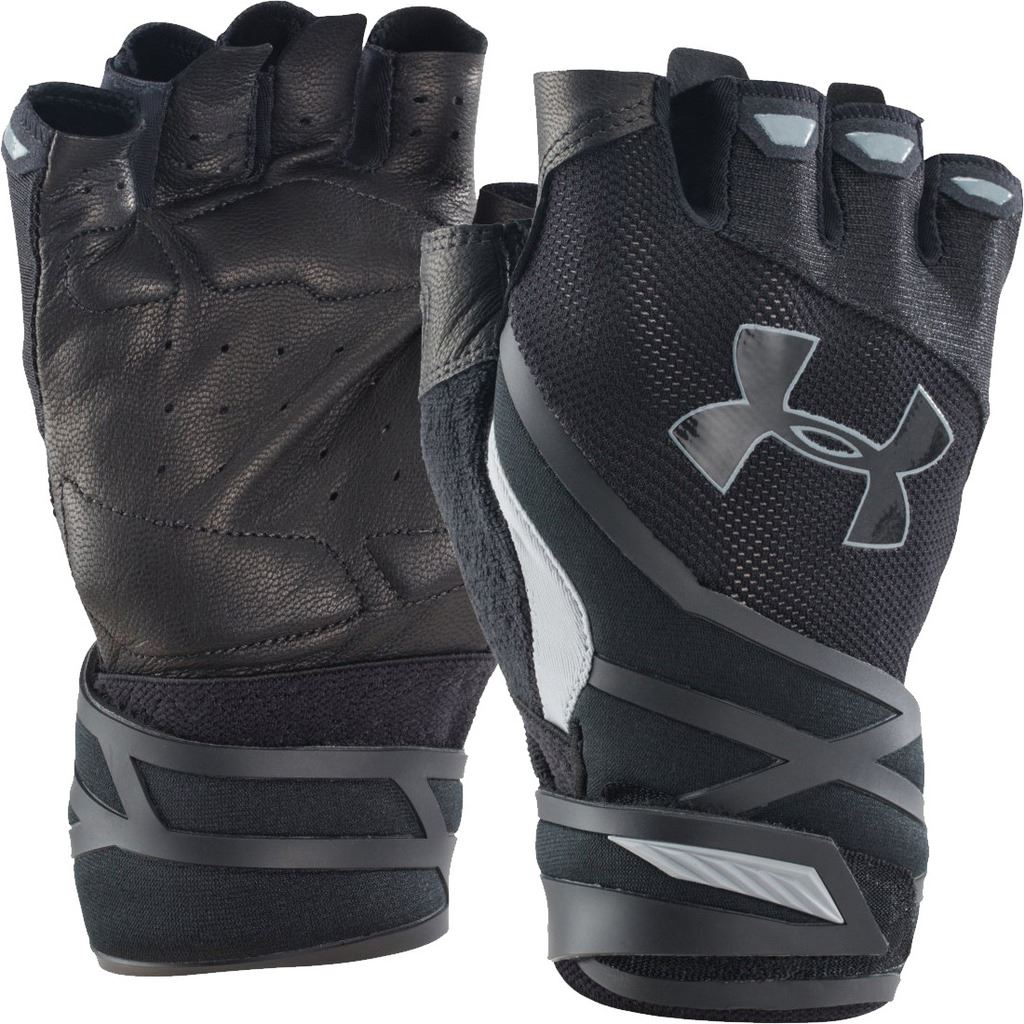 under armour ua mens resistor training support gym weight lifting gloves ebay. Black Bedroom Furniture Sets. Home Design Ideas