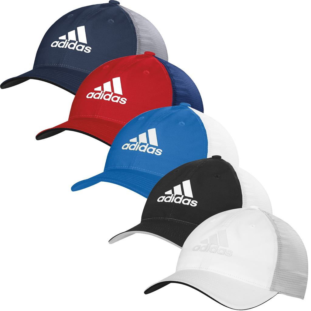93874f27 adidas Light Climacool Flex-Fit Hat Structured Mens Performance Golf ...
