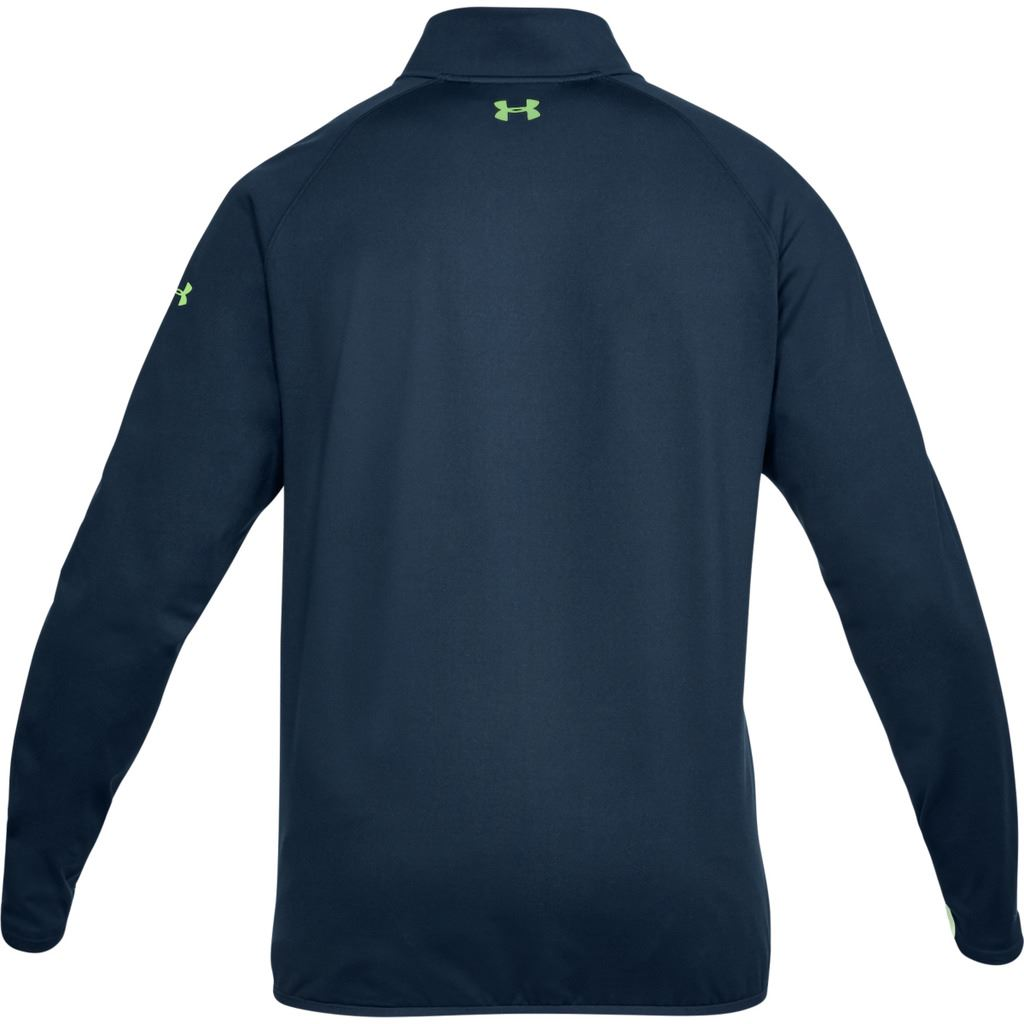 UNDER-ARMOUR-MENS-UA-GOLF-CRESTABLE-EU-MIDLAYER-1-4-ZIP-PULLOVER-TOP-SWEATER thumbnail 5