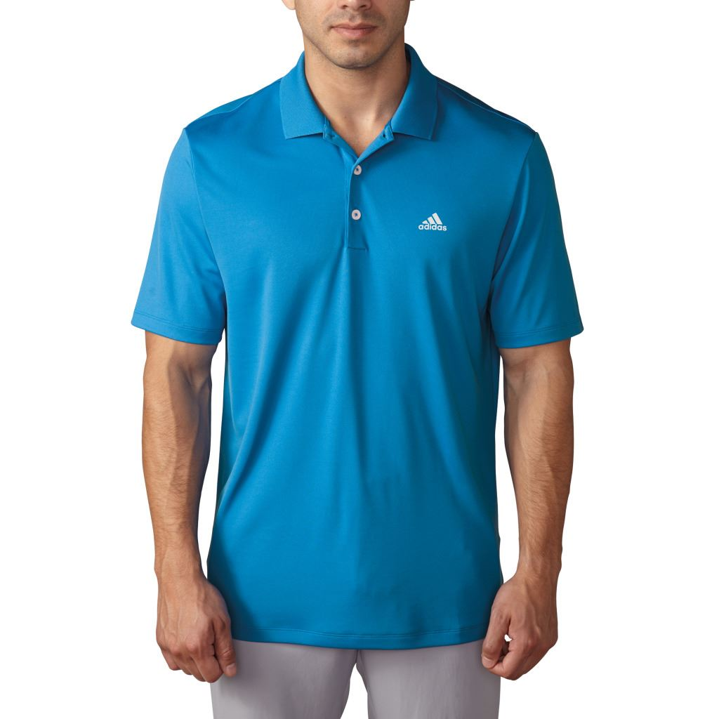 Adidas golf 2017 performance logo chest polo lightweight for Polo shirts with logos