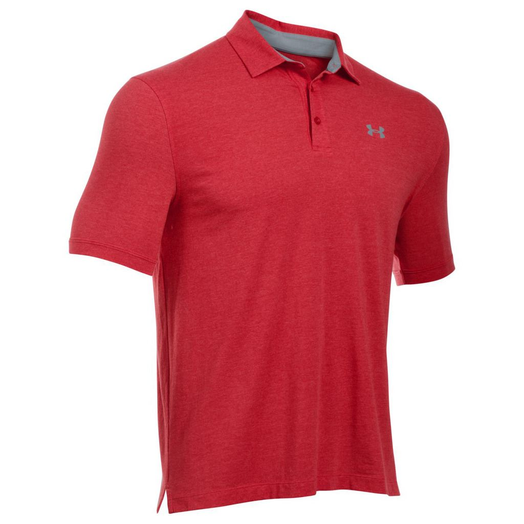 Under armour 2017 charged cotton scramble performance for Mens golf polo shirts