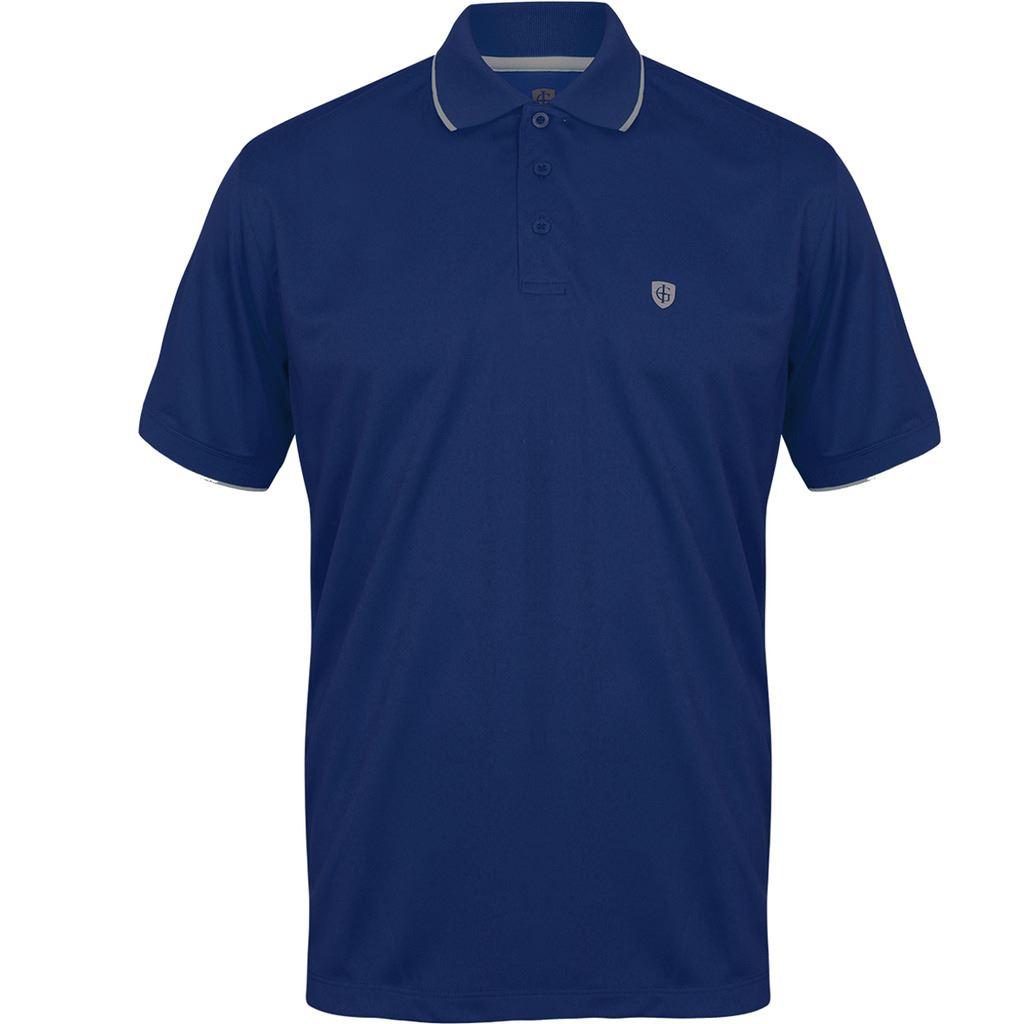New sland green classic polo logo chest performance mens for Polo shirts with logos