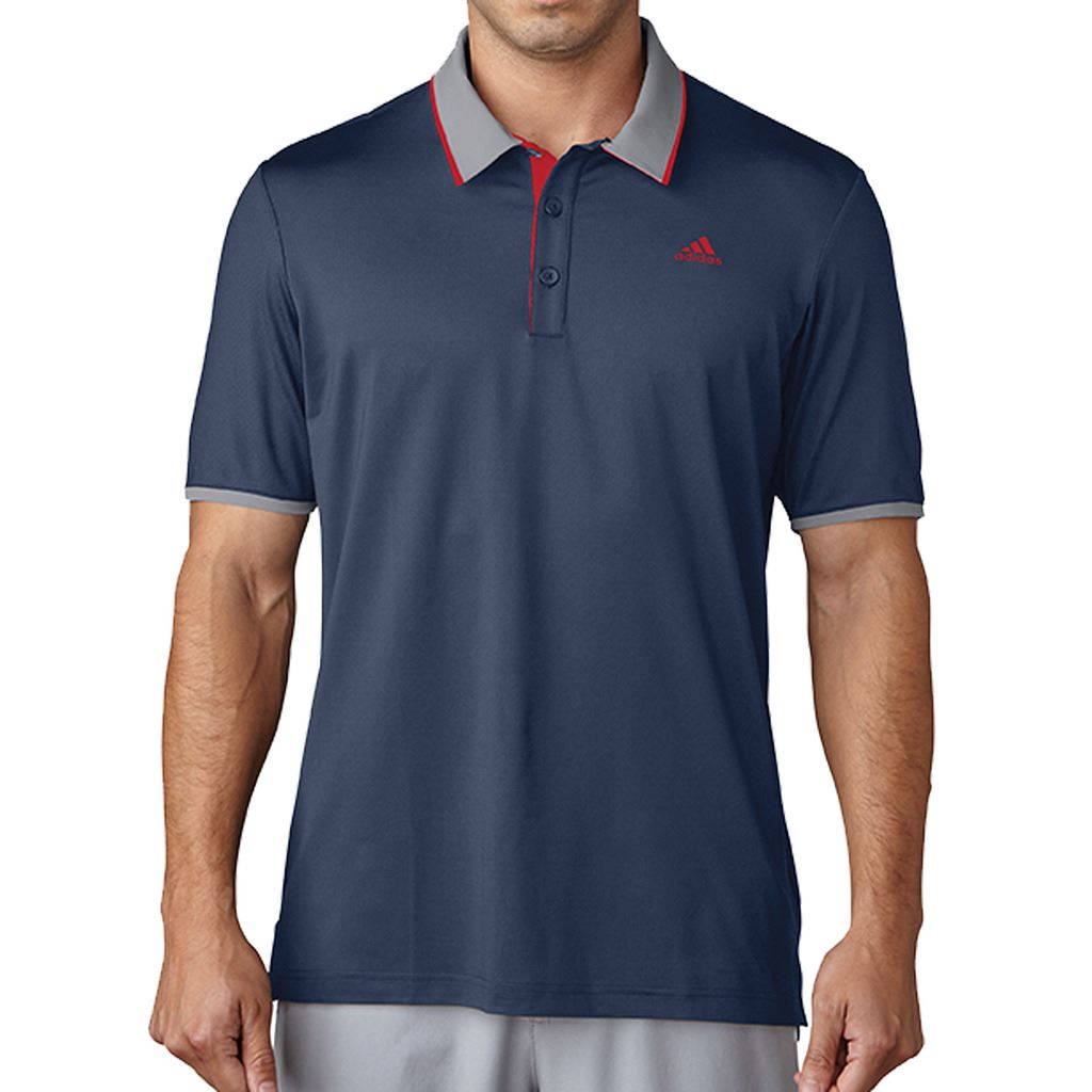 adidas Climacool Performance T-Shirt Polo de Golf Homme S Bleu