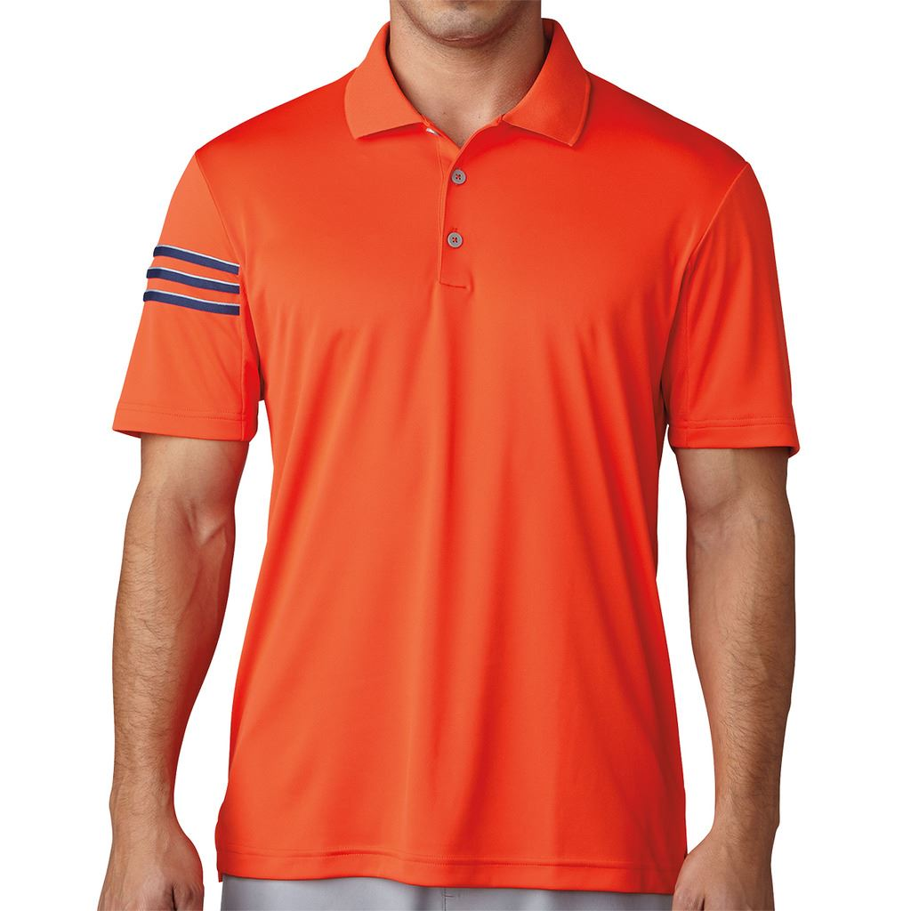 Adidas golf 2017 climacool 3 stripes club crestable mens for Mens golf polo shirts