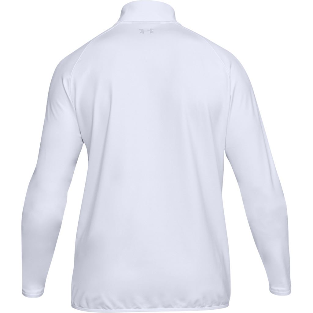 UNDER-ARMOUR-MENS-UA-GOLF-CRESTABLE-EU-MIDLAYER-1-4-ZIP-PULLOVER-TOP-SWEATER thumbnail 9