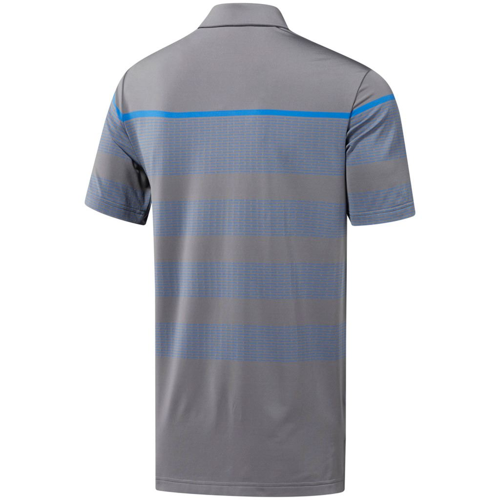 adidas-Golf-2019-Mens-Ultimate-365-Dash-Stripe-Short-Sleeve-Golf-Polo-Shirt thumbnail 3