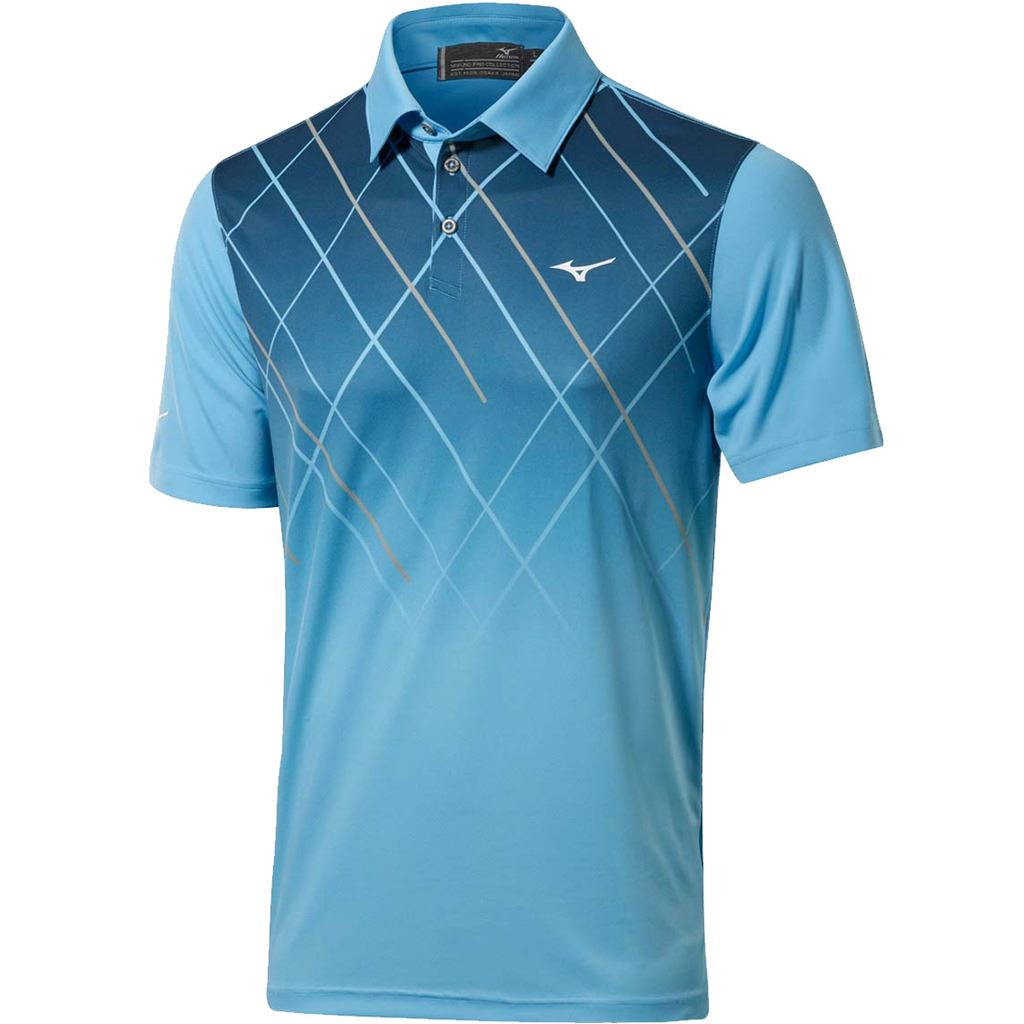 Mizuno 2017 sublimation drylite performance mens golf polo for Mens golf polo shirts