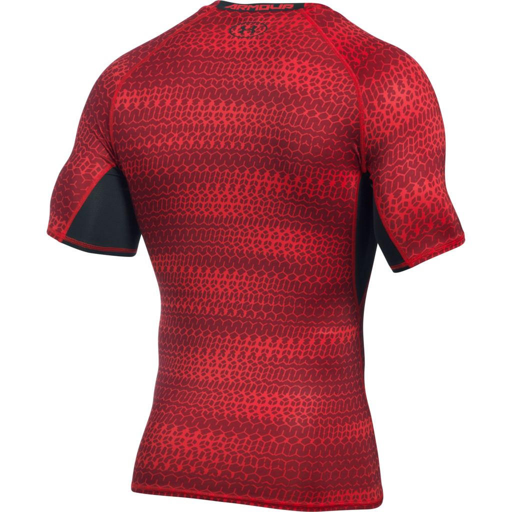 under armour mens ua heatgear armour printed short sleeve
