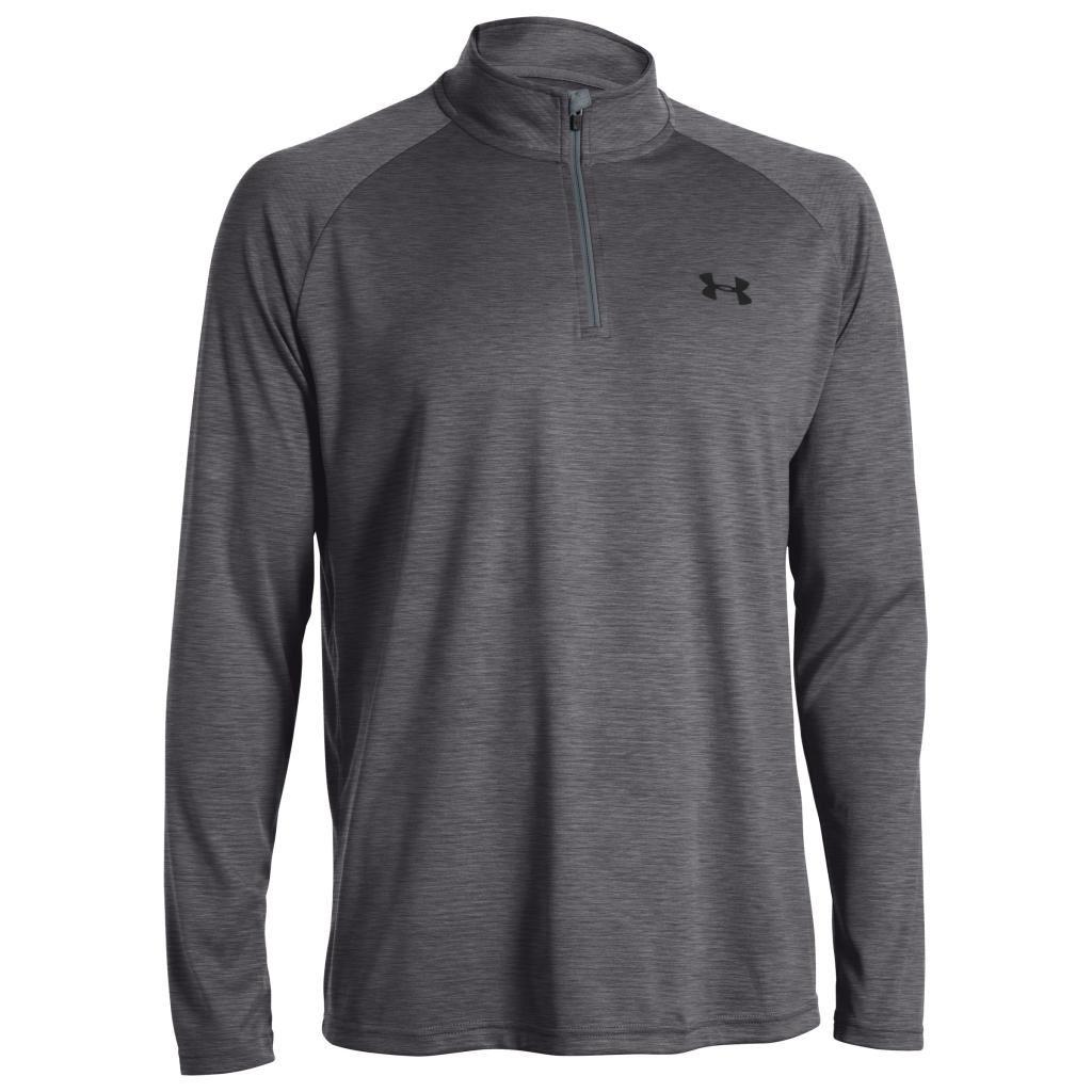 748578a3 Under Armour UA Tech Zip Workout Layer Long Sleeve Top Gym Shirt Training    eBay