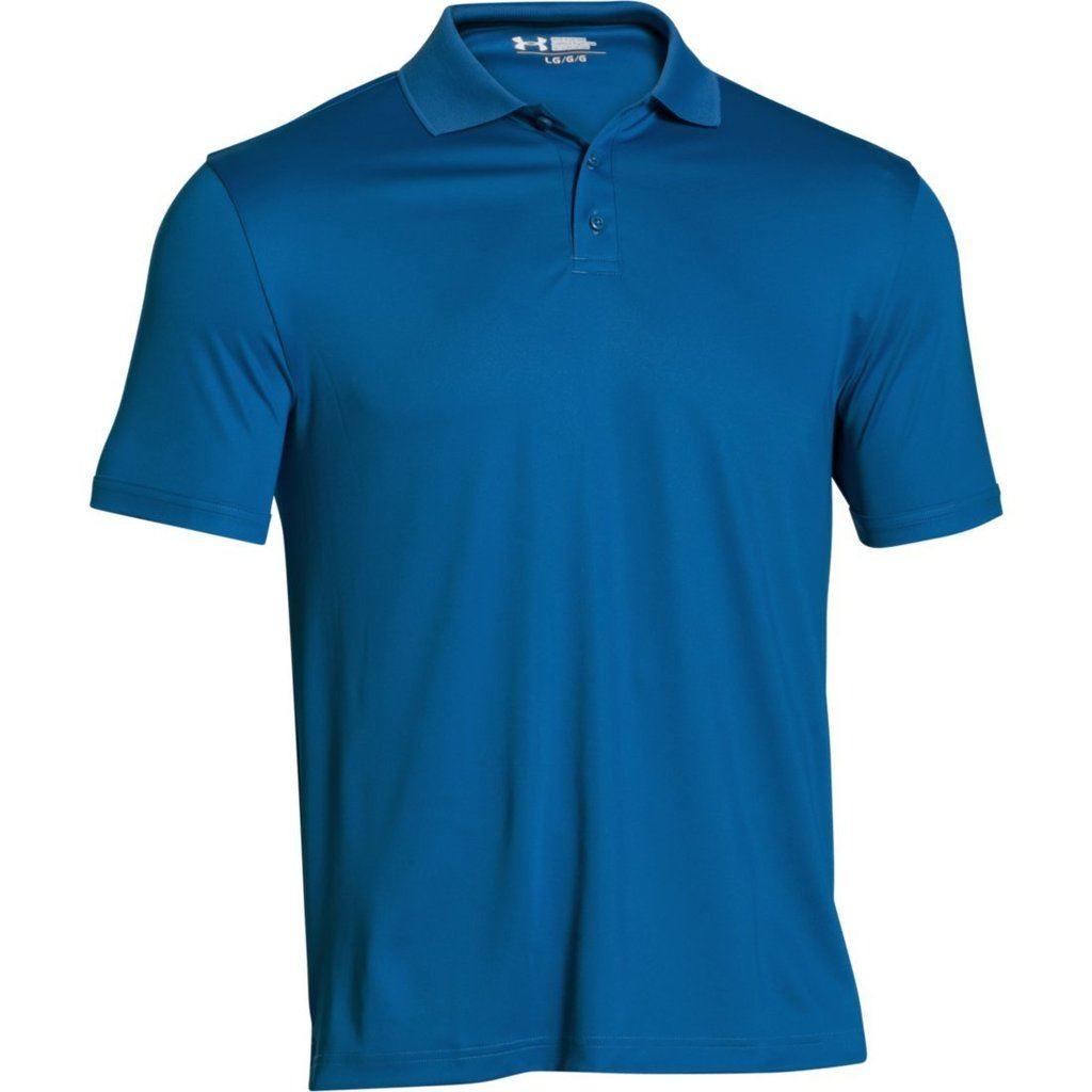 Under Armour Mens Medal Play Logo Sleeve Golf Performance Polo 2.0 True Gray Heather Medium bbARgYzac