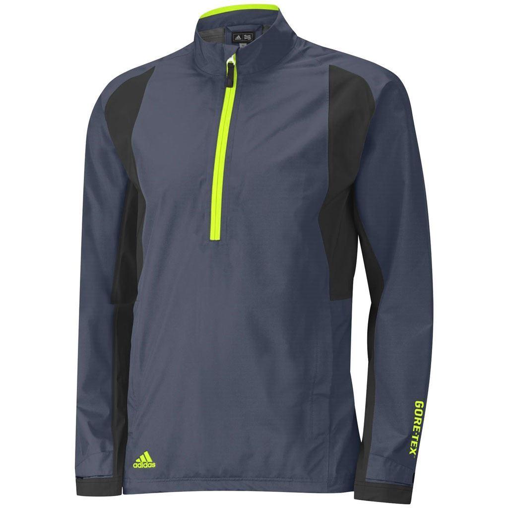 Mens jacket half - Adidas Climaproof Gore Tex Paclite Half Zip Waterproof Mens Golf Jacket