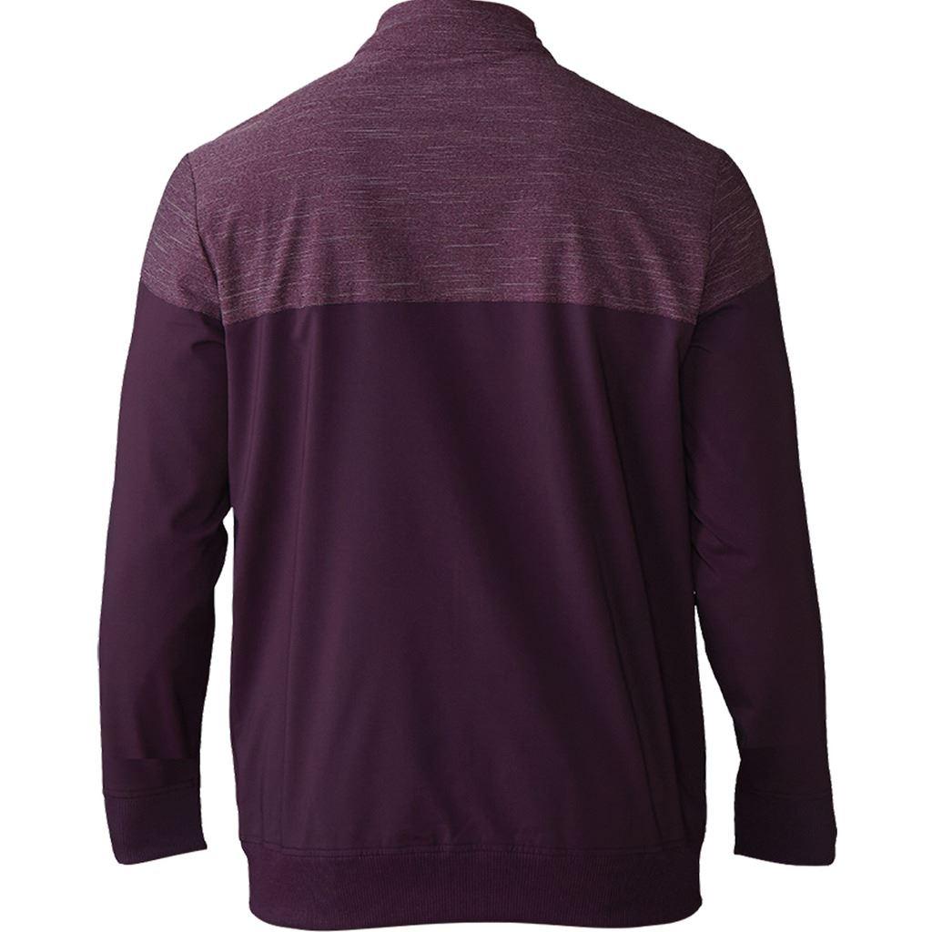 adidas-Mens-Hybrid-Heather-Fleece-Lined-Thermal-Golf-Jacket thumbnail 3