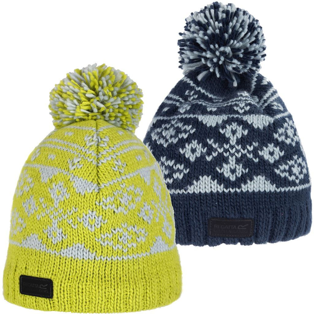 132f97616a5 Details about 33% OFF REGATTA SLEET FLEECE POM POM KNIT BEANIE MENS SPORTS  OUTDOOR BOBBLE HAT