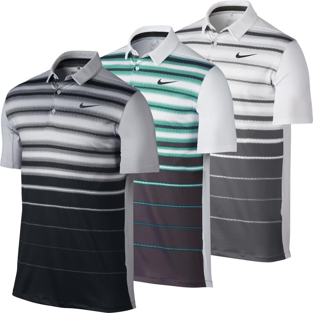 316ef57a6 Nike Mobility Fade Stripe Logo Chest Mens Golf Polo Shirt Nike Mobility  Fade Stripe Logo Chest Mens Golf Polo Shirt 1 sur 1 Voir Plus
