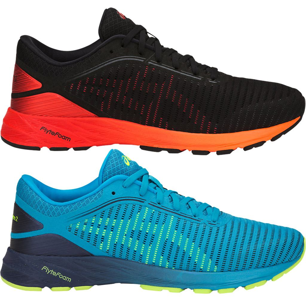 Asics 2018 Mens DynaFlyte 2 Lightweight Road Running Sports Shoes