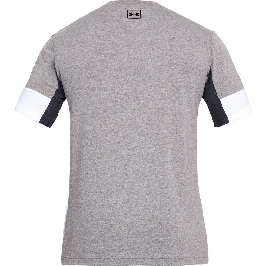 UNDER-ARMOUR-MENS-UA-CHARGED-COTTON-SPORTSTYLE-SS-COLOURBLOCK-TOP-TEE-T-SHIRT thumbnail 3